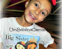 Camiseta big sister little sister +tiara