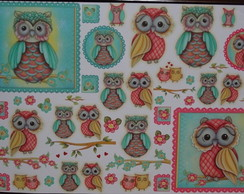 ***Papel decoupage corujas PD-781