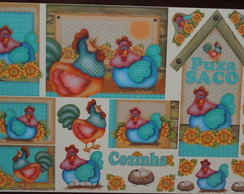 Papel Decoupage Galinhas PD-807