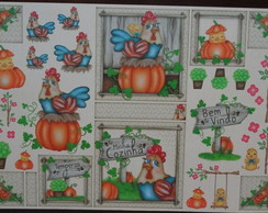 ***Papel Decoupage Galinhas PD-799