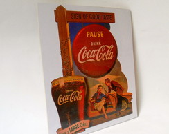 Placa Decorativa Coca Cola Vintage
