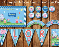 Peppa George Pig Kit Festa Chic da Vovó