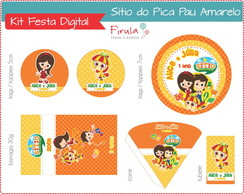Kit Festa Digital Sítio Pica Pau Amarelo