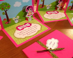 Convite Pop-up Lalaloopsy