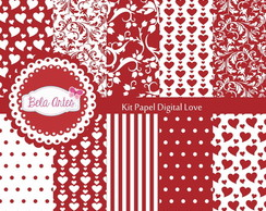 Kit Papel Digital Love
