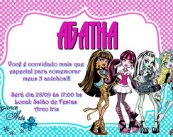 Convite Digital Monster High (modelo 1)