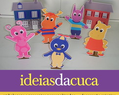 Mini Totens 25cm em MDF Backyardigans