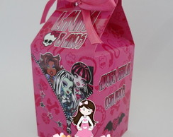 Caixa de Leite Monster High Pink