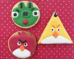 Angry Bird- Biscoito Decorado