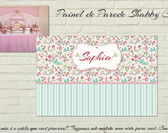 Painel IMPRESSO Shabby Chic Floral LUXO