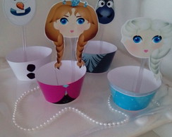 Wrapper para Cupcakes Frozen com Topper