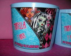 Balde de pipoca Monster High
