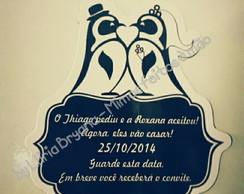 Save the Date Magnético Pinguins
