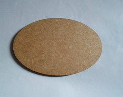 placa oval 3 mm 12 x 16
