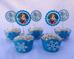Wrapper + Topper cupcake - Frozen
