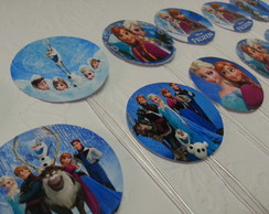 Toppers para CupCakes - Frozen