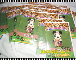 Revista p/ colorir (Mickey no safari)