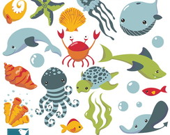 Clipart Fundo do Mar