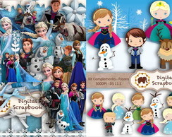 2 Kits Scrapbook Digital - FROZEN