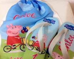 Kit chinelo Peppa