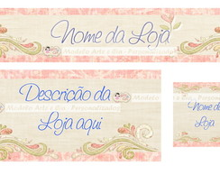 Kit Loja Virtual elo7 (Rosa Arabesco)
