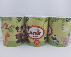 Caneca porcelana mickey safari