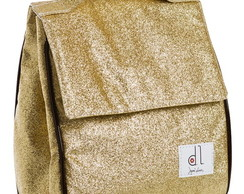 Lunch Box Glitter Dourado