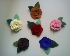 Broches-presilha flor