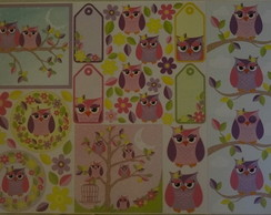 *Papel Decoupage Corujas PD-852