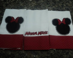 Kit 3 Fraldinhas - Minnie Mouse