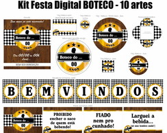 Kit Festa Digital Boteco - Dourado
