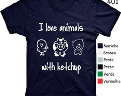 CAMISETA I LOVE ANIMAIS