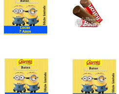 Rotulo Chocolate Baton Minions