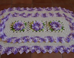 Tapete Oval Bico Duplo Lilas