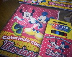Mini Kit Colorir - Mickey Minnie Mouse
