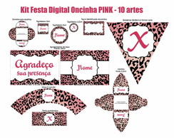 Kit Festa Digital Oncinha - Pink