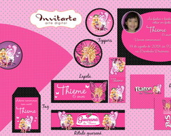 Kit Digital Barbie Butterfly