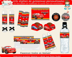 Kit guloseimas digital Carros Disney