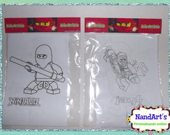 Kit Colorir 1-lego ninja