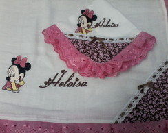 FRALDAS BORDADAS MINNIE BABY
