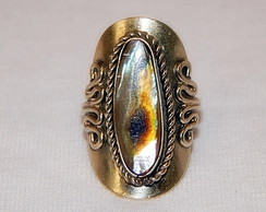 Anel de abalone oval
