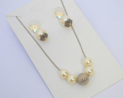 CONJUNTO SILVER AND PEARLS