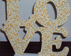 Letras decorativas LOVE MDF