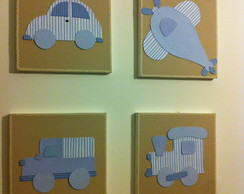 quadros tema transporte (R$ 60,00 cd)