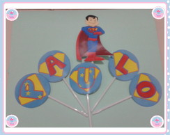 Topper para Doces/Cupcakes Super Papai