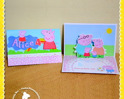 Convite 3D Pop Up Peppa Pig