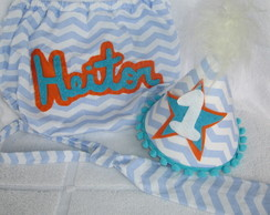Smash the cake chevron personalizado