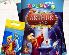 Kit Revista + Giz Rei Arthur