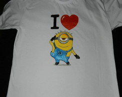 camiseta MINIONS- I LOVE YOU