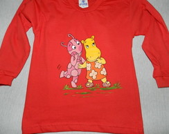 camiseta BACKYARDIGANS- Uniqua e tasha